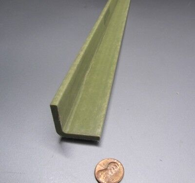 Fiberglass 90 Angles Olive .187 Thickness X 1.25 Arms X 48 Length