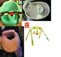 Bumbo Chair, Baby Tub with Pump, Breast Friend Pillow & Hape Toy