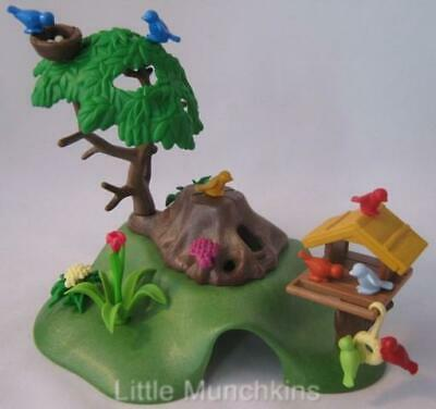 Playmobil Dollshouse/Farm/Wildlife: Scenery with bird table, tree & nest NEW