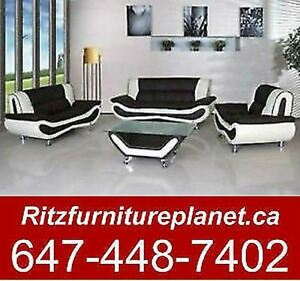 FREE COFFEE TABLE WITH 3 PCS SOFA SET