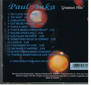 A 14 SONG PAUL ANKA AUTOGRAPHED CD London Ontario image 5