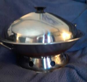 "Chinese - Asian Wok - 14"" diam with lid, ring,"