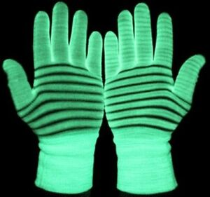 Glow gloves, Luminous gloves, Signing Gloves, Glow in the dark pair of Gloves
