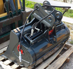 EXCAVATOR WRIST/TWIST BUCKET - CANADIAN BUILT - ALL SIZES