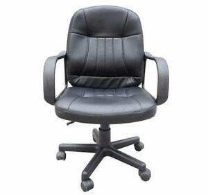 Practical basic Office Chair / Mid Back leather Office Chair