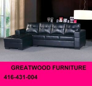 BRAND NEW SECTIONAL SOFA BLACK OR CHOCOLATE...$399