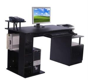 computer desk for home office. Wonderful Office Computer Desk  Home Office Wooden Grain Desk Laptop  With Shelves For With For