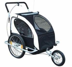 2 in 1 Childrens Bicycle Trailer & Stroller / Stroller trailer /  Kids Stroller And Trailer