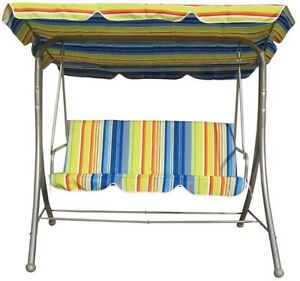 Brand New Patio Swing Chair with canopy and cushion for 3 person