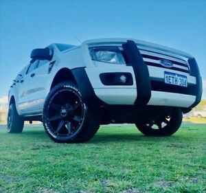 2015 Ford Ranger PX XL Double Cab Cool White 6 Speed Sports Automatic Utility Kenwick Gosnells Area Preview