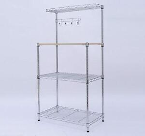 Multilevel Wire Utility Microwave Stand Kitchen Cart Workstation