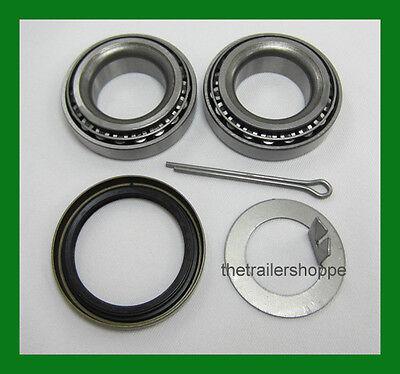 Trailer Wheel Bearing Seals - Trailer Hub Wheel Bearing Kit 2000#  EZ Lube Axle Spindle 1 1/16