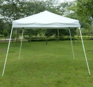 White Pop Up Canopy Tent /10x10 Sun Shade flame resistant Tent