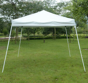 White Pop Up Canopy Tent /10'x10' Sun Shade flame resistant Tent