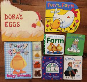 FARM and FARM ANIMALS Board Books - $3 each or all 7 for $15