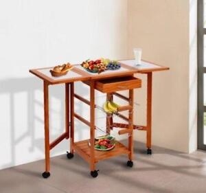 Rolling Kitchen Trolley / KITCHEN ORGANIZER / Trolley with sides