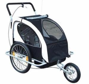 2 in 1 Children's Bicycle Trailer & Stroller / Stroller trailer /  Kids Stroller And Trailer