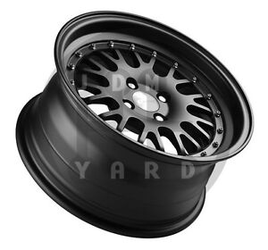 DTM-Racing-P20-1-Matte-Black-4x100-16x8-Civic-Integra-MX5-Wheel-JDM-Dish-Rims