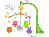 BRAND NEW BABY SMOOTH MUSICAL MOBILE NURSERY TODDLERS Bell ANIMAL TOYS COT BED