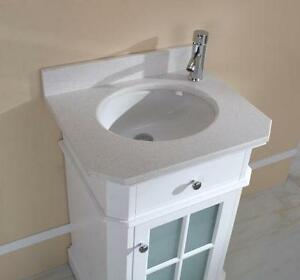 "Vanity 24, 32, 48 & 60"" in Dove White - 2 counter choices"