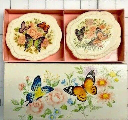 Hand Soap Vintage Avon Summer Butterflies Soaps 2 x 3.0 Oz. = 6.0 Oz.