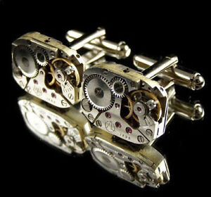 Awesome Watch Movement Cufflinks! ----- #Steampunk Collection