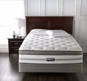 Simmons Chopin II queen size mattress and boxspring