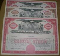 Authentic Stock Certificates - group of 10 :1930's-1970's
