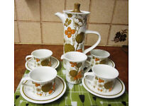 "Vintage 70s Midwinter ""Countryside"" Coffee Set"
