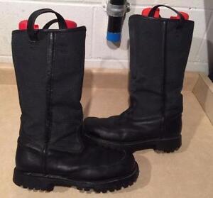 Men's CrossTech Pro Steel Toe Tall Leather Boots Size 10.5 3E