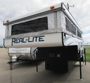 2018 REAL-LITE SS1609 - POP UP TRUCK CAMPER! LIGHT AND WARM!