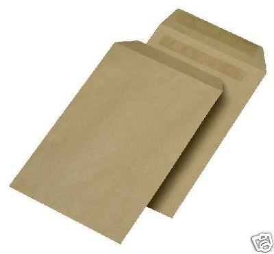 250 Versandtaschen C4 ohne Fenster sk braun 90g Briefumschläge C 4 229 x 324