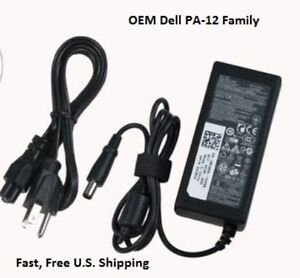 Dell OEM PA-12 Slim 65W Genuine AC Adapter Charger Inspiron 1521 1525 1526 1545