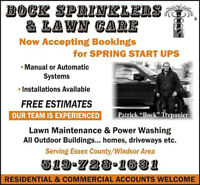 Bock's Sprinklers And Lawn Care