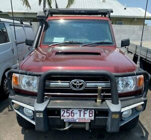 2009 Toyota Landcruiser VDJ79R GXL Red 5 Speed Manual Cab Chassis