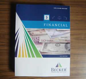 2012 BECKER CPA Review Financial FAR Textbook - New, Unmarked.