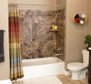 Want a Tile look without the crazy costs? Tub Surrounds 60x36