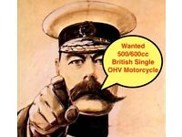 Panther 600cc or British OHV Single Motorcycle Wanted