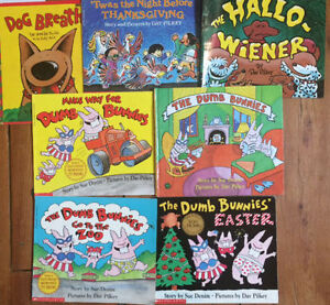 DUMB BUNNIES & more by DAV PILKEY - $3 each or all 7 for $15