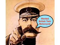 British Twin Motorcycle Triumph, BSA, Norton Aerial etc Wanted