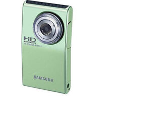 SAMSUNG HMX-U10 FULL 1080P 10MP HD LIGHT GREEN CMOS DIGITAL CAMCORDER  HMX-U10EN