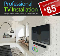PROFESSIONAL TV WALL MOUNT INSTALLATION