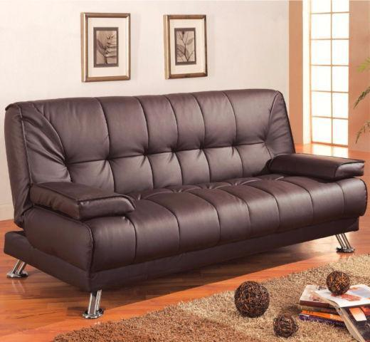 Faux Leather Convertible Sofa Bed With Removable Armrests Couches Futons Edmonton Kijiji