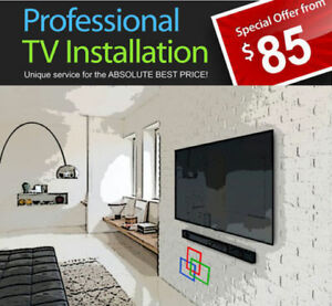 *SPECIAL*PROFESSIONAL TV WALL MOUNTING SERVICE FROM ONLY $70