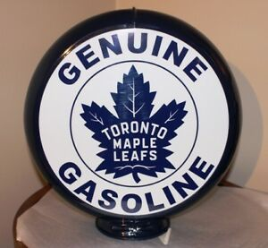 TORONTO MAPLE LEAFS (TML) GAS PUMP GLOBE LAMP 2 SIDED