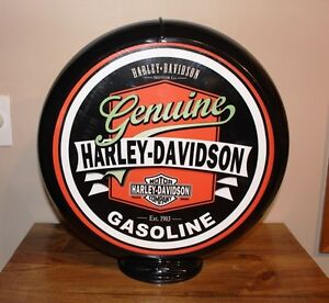 Two sided H. D. gas pump globe - Reversable Poly globe
