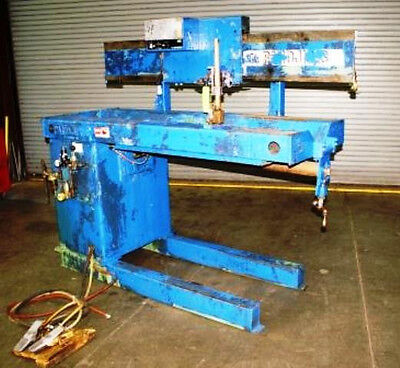 42 Pandjiris Model 36e 3.5 30 Seam Welder W Miller Syncrowave 300 Power Supply