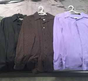 Men's Dress Clothes - 3 Shirts, Belt, Ties, Shoes - All for $60