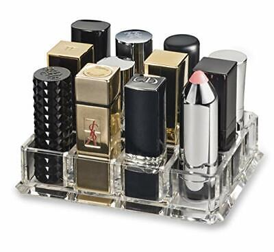 BY ALEGORY Acrylic Large Base Lipstick Organizer - 12 Spaces - *Free Shipping* Free Acrylic Organizer