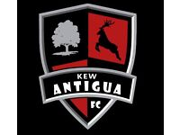 Come football training with Kew Antigua FC on Sunday mornings
